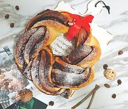 #2018年我学会的一道菜#圣诞花环面包的做法
