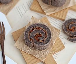 黑米肉松蛋糕卷的做法