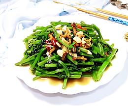 #夏日消暑,非它莫属#开洋虾酱炒空心菜的做法