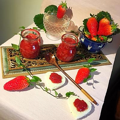 纯手工自制大果粒草莓果酱+杜绝浪费滴草莓特饮
