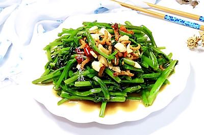 开洋虾酱炒空心菜