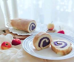 把柔软吃掉❗超细腻❗超绵密❗口感棒棒的紫薯泥蛋糕卷的做法