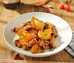 #下饭红烧菜#红烧肉炖萝卜块的做法