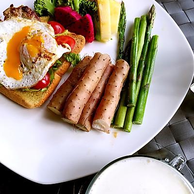 芦笋山药低脂早餐