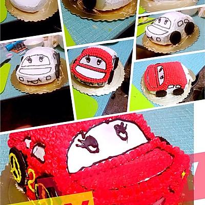 汽车蛋糕的做法 步骤11