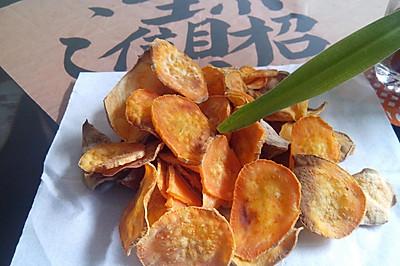 瘦身零食--烤红薯片