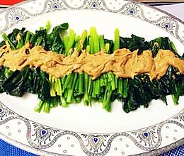 芝麻酱凉拌菠菜的做法