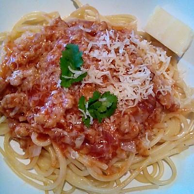 芝士番茄肉酱意面的做法 步骤5
