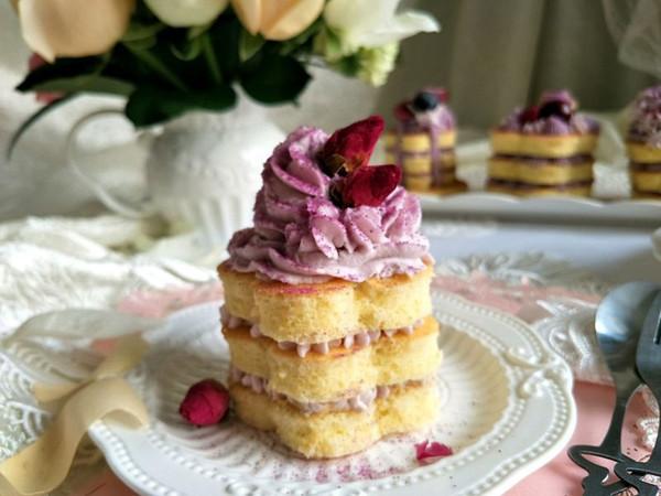 海绵芋泥奶油蛋糕的做法