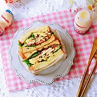 畅快早餐,元气满满一整天  ~黑椒鸡胸肉厚蛋三明治的做法图解9