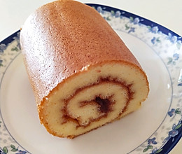 草莓果酱蛋糕卷(小四卷)的做法