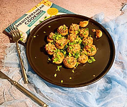 #安佳万圣烘焙奇妙夜#蒜香培根煎酿蘑菇的做法