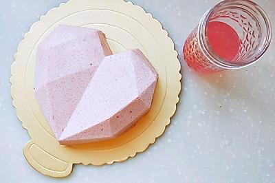 心形蛋糕 心形钻石慕斯蛋糕