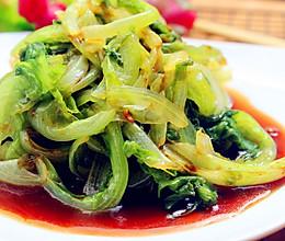 耗油清爽生菜的做法