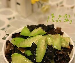 冬菜丝瓜炒木耳的做法