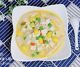 #晒出你的团圆大餐# 金汤白果豆腐金针菇的做法