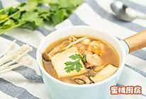 虾仁菌菇烩豆腐的做法