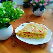 胡萝卜土豆丝煎饼#快手营养早餐#