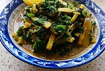 土豆虾酱瓜叶的做法