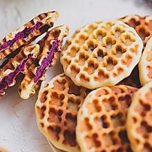 香甜软糯的紫薯华夫饼