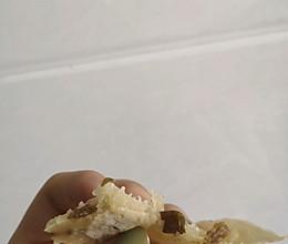 简易版电饼铛梅干菜饼的做法