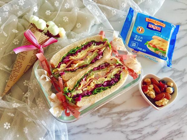 多彩野餐三明治的做法