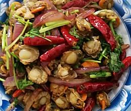 辣炒扇贝肉的做法