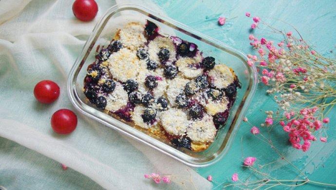 蓝莓香蕉烤燕麦