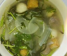 萝卜海带汤的做法