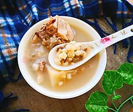 #一人一道拿手菜#粉葛薏米绿豆祛湿汤的做法