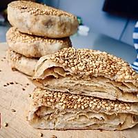 平底锅烙出酥香全麦芝麻酱烧饼的做法图解10