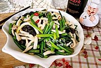 韭菜苔爆炒鱿鱼丝的做法