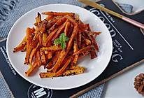 #憋在家里吃什么#烤香甜的地瓜条的做法