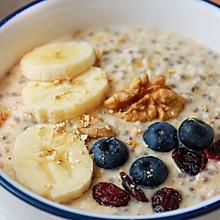 健康低卡——水果花生燕麦粥