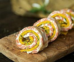 #快手又营养,我家的冬日必备菜品#高颜值早餐–双蛋卷的做法