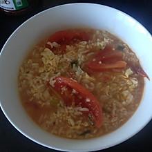 西红柿鸡蛋烫饭