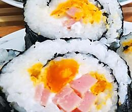 咸蛋黄寿司的做法