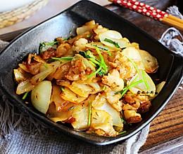 嘎嘎下饭,孜然肉片炒土豆的做法