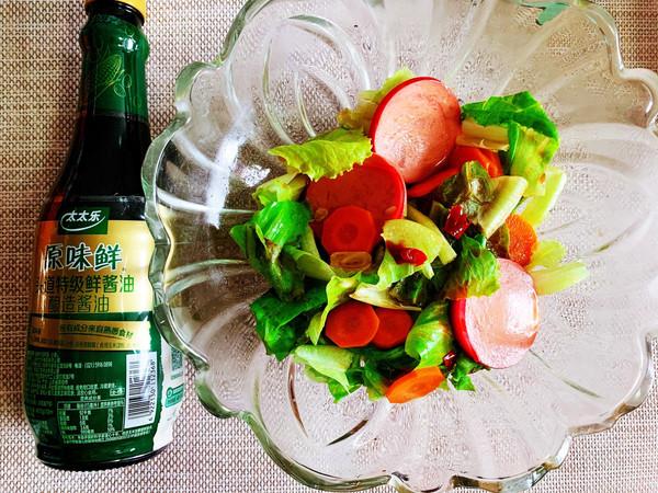 蒜香炝生菜的做法