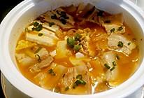 韩国泡菜五花肉豆腐汤一节后开胃清肠首选的做法