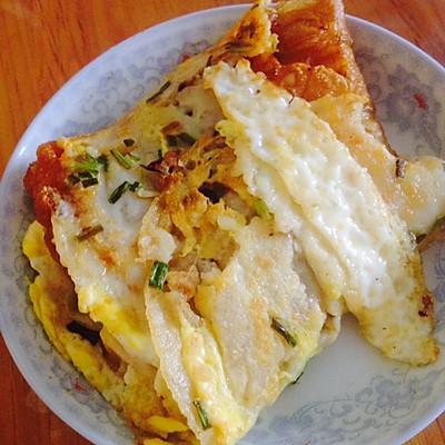 平底锅版鸡蛋饼