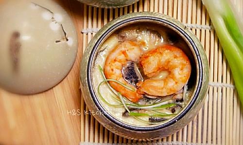 日式鲜虾茶碗蒸的做法