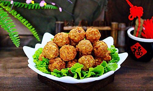 #新年开运菜,好事自然来#团团圆圆的香炸猪肉豆腐丸子的做法