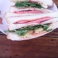 脱脂三明治和黑米汤(瘦身)的做法图解4