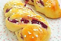 紫薯麻花面包的做法