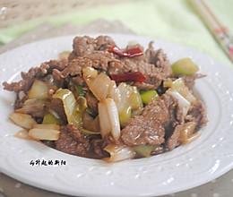 香嫩葱炒羊肉的做法