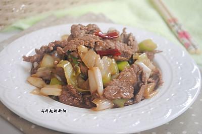 香嫩葱炒羊肉