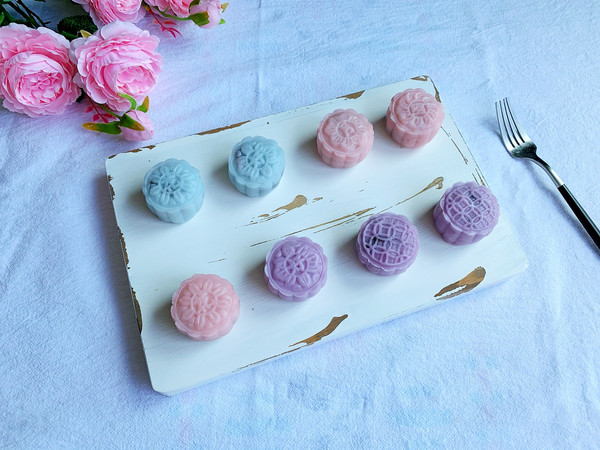 免烤箱糯唧唧冰皮月饼的做法