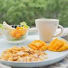 减肥水果瘦身沙拉 减脂早餐 +香蕉奶昔#博世红钻家族#