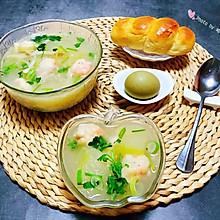 #精品菜谱挑战赛#虾滑冬瓜针菇汤